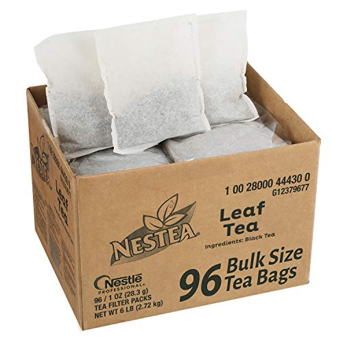 Nestea Black Tea Bags, Bulk Foodservice Tea, Premium 100% Leaf Tea, 1-Ounce Packets (Pack of ()