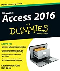 Your all-access guide to all things Access 2016 If you don't know a relational database from an isolationist table—but still need to figure out how to organize and analyze your data—Access 2016 For Dummies is for you. Written in a friendly an...