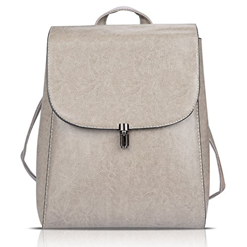 Funnyd Women's Pu Leather Backpack Purse Ladies Casual Shoulder Bag School Bag (Gray)