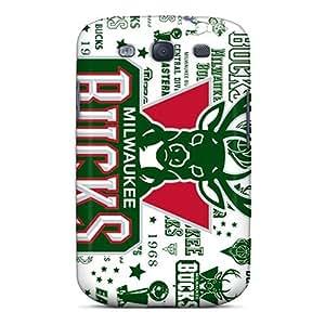 New Style L.M.CASE Milwaukee Bucks Premium Tpu Cover Case For Galaxy S3