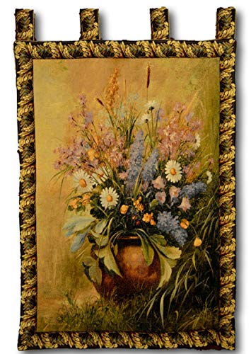 Tache 33 X 24 Inch Woven Floral Beautifully Captured Tapestry Wall Hanging Art Deco with Hanging -