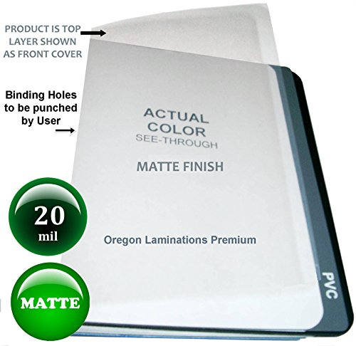 (20 Mil Extra Thick Matte Clear Plastic Binding Covers Report Cover Sheets 8-1/2 x 11 Qty 25)