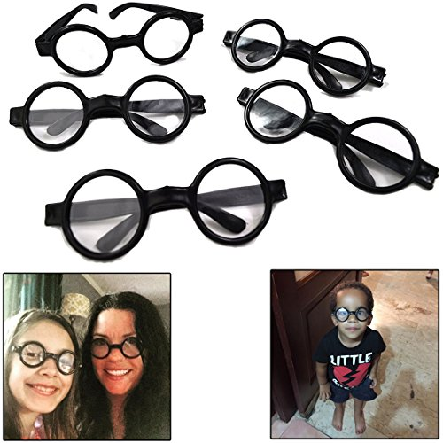 dazzling toys Wizard Glasses - Great accessory for a wizard (Harry Potter) birthday party, 12 Pack -
