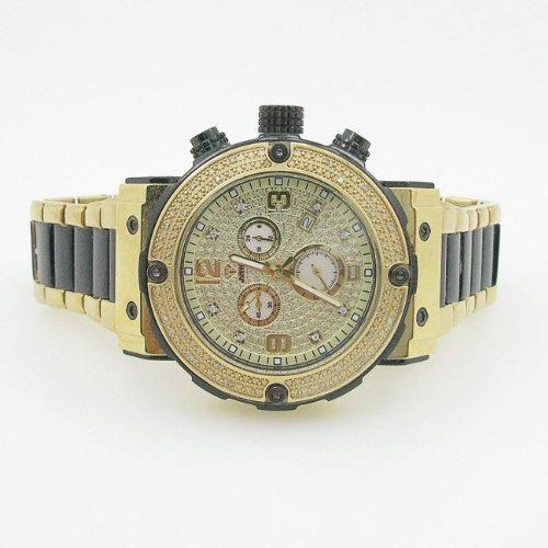 Aqua Master Mens Diamond Two Tone Watch 0.20ct w-146 by Aqua Master
