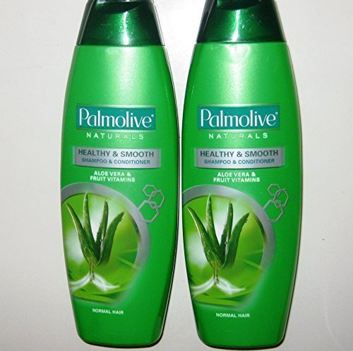Lot of 2 Palmolive Naturals Shampoo & Conditioner 2in1 Healthy & Smooth for Normal Hair 180mL/pk (Total - Shampoo Palmolive Naturals