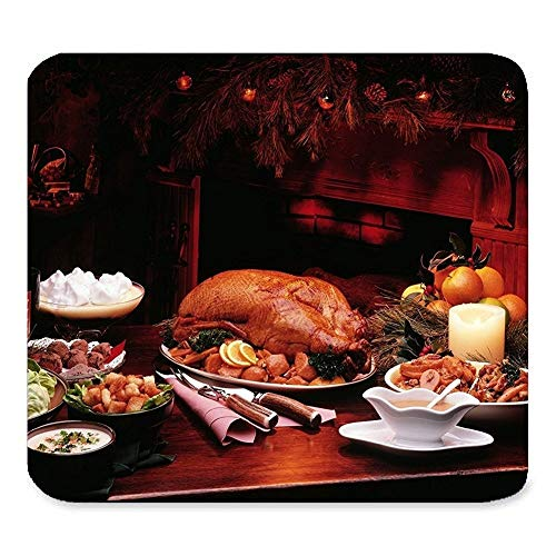 Happy Thanksgiving Day Harvest Festival Blessings Turkey Pumpkin Maple Leaves Art Beautiful Best Gift Unique Custom Rectangle Mouse pad,Gaming Non-Slip Rubber Mouse pad -