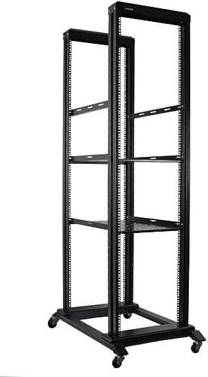 "15U 4-Post Open Frame Server Rack IT Network Relay IT Racks 31/"" Deep 800MM"