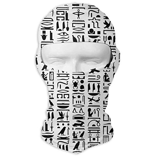 Leopoldson Egyptian Hieroglyph Balaclava UV Protection Windproof Ski Face Masks for Cycling Outdoor Sports Full Face Mask Breathable ()