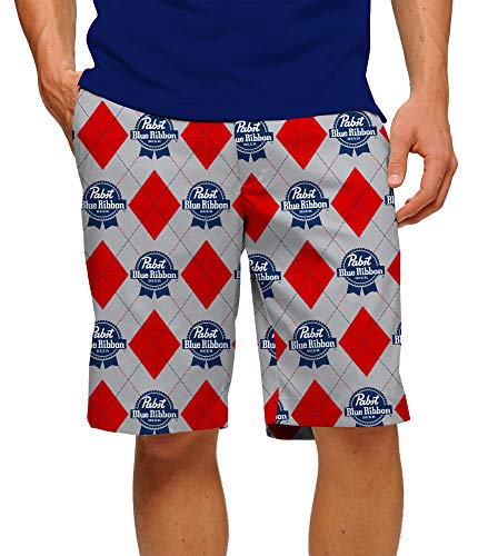 - Loudmouth Golf Pabst Blue Ribbon Men's Short 34