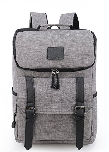 Weekend Shopper 15.6'' Laptop Backpack Vintage Backpack College backpacks Laptop Bookbag School Backpack Daypack Notebook Backpack for Women and Men GRAY by Weekend Shopper