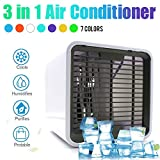 USHOT USB Charging 7 LED 3 in 1 Air Conditioner Portable Refrigerator Quiet Air Cooler AS Show One Size
