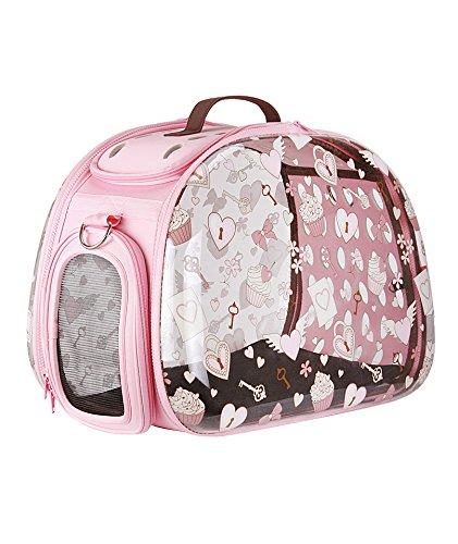 BOLSO TRANSPORTE PASEO VIAJE PERRO GATO MASCOTA ROSA 46X30X32 CM: Amazon.es: Productos para mascotas