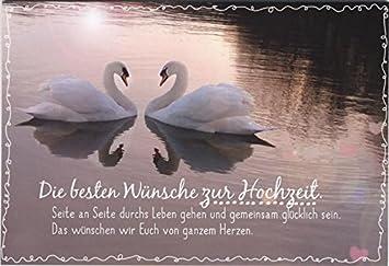 Gluckwunschkarte Hochzeit Hochzeitskarte Die Besten Wunsche Zur