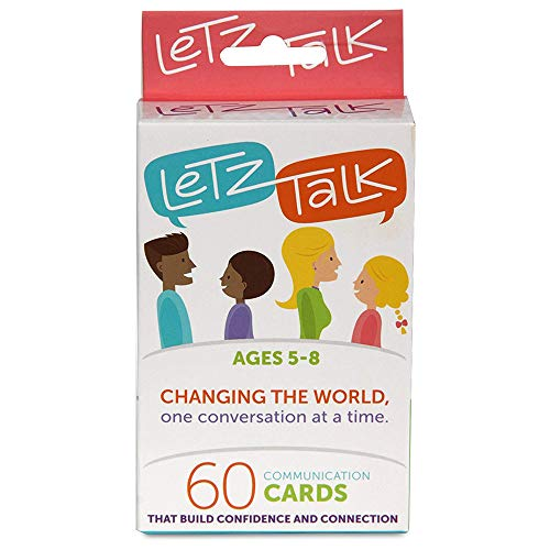 LetzTalk Conversation Starter and Question Card Game for Families, Builds Confidence in kids Age 5-8 - Therapy Game - Great for Family Travel, Counselors ()