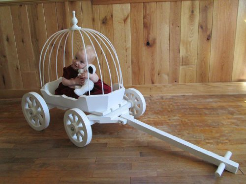 Angel Cinderella Carriage - Gloss White by Mini Wedding Wagons