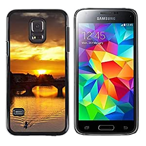 Exotic-Star ( Sunset Beautiful Nature 115 ) Fundas Cover Cubre Hard Case Cover para Samsung Galaxy S5 Mini / Samsung Galaxy S5 Mini Duos / SM-G800 !!!NOT S5 REGULAR!