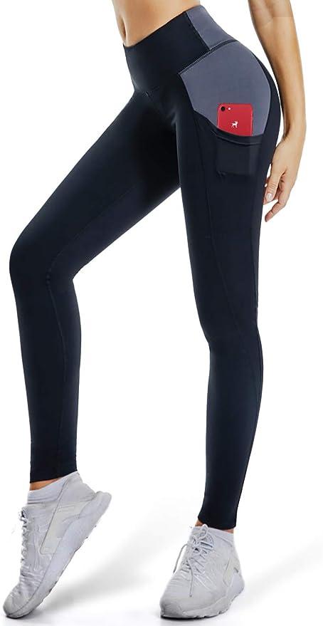 ALONG FIT Yoga Pants for Women Leggings with Side Pockets Yoga Pants Tummy Control