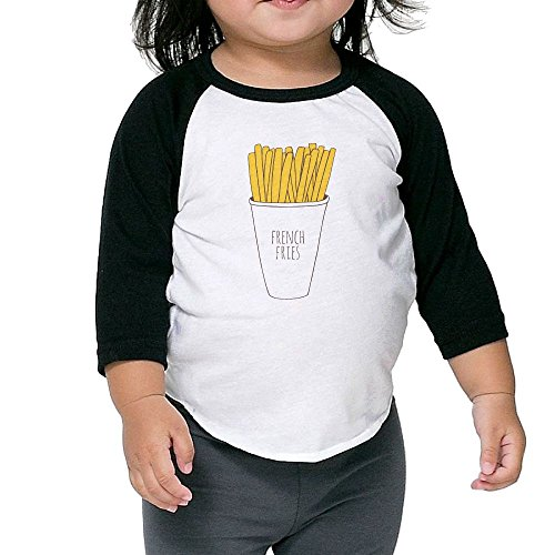 Susuha French Fries A Child's Sleeve Shoulder Shirt 5-6 - De Songs Mayo 5