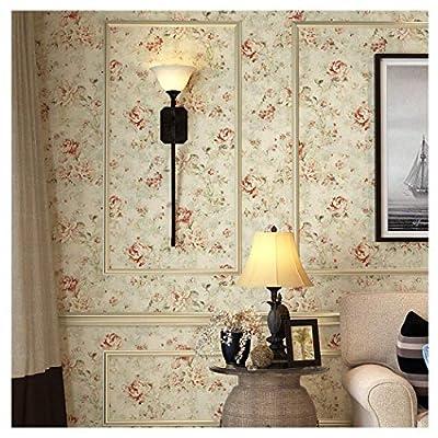 Birwall Wallpaper Countryside Floral Wallpaper in Bedroom Livingroom Kitchen, 20.8 In32.8 Ft=57 Sq ft Per Roll