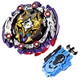 Burst Starter Booster B-125 Buster Dead Hades 11Turn Zephyr' with Blue Bey Launcher LR (Left&Right Turning) Toy by DYT-Toys