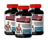 libido for Men Sexual - Extreme Male Pills - Male Enhancement Formula - tribulus terrestris Bulk Supplements - 3 Bottles 180 Tablets