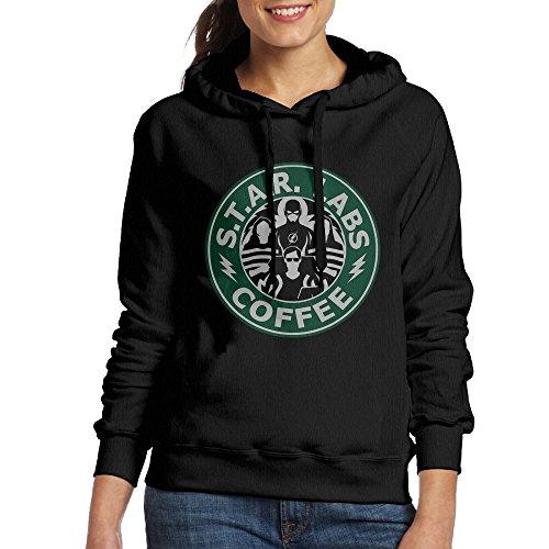 Lonekit Women's Star Labs Coffee The Flash Hooded Sweatshirt