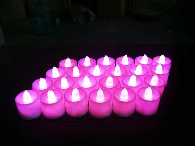 exquleg 24 LED Velas, LED TRUYOO Tealights, eléctrica velas ...