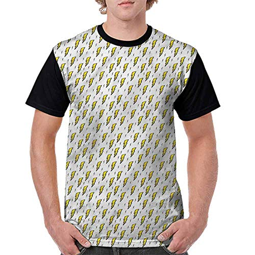 Teen t-Shirt,Vintage Thunder Bolts Fashion Personality Customization