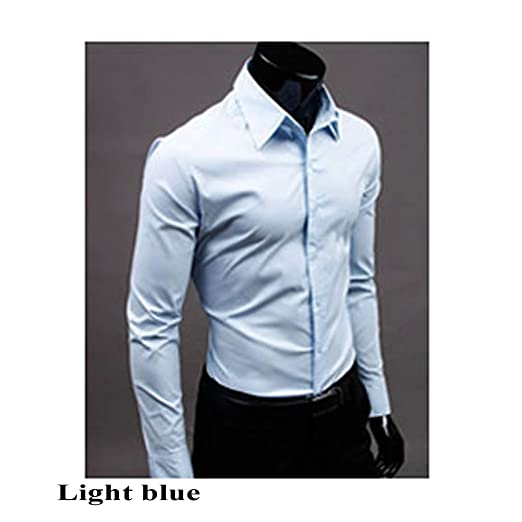 Lamdoo Fashion Mens Elegante Vestido Casual Slim Fit Camisetas ...