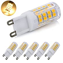 G9 LED Dimmable Light, Warm White 4 Watts Replacement for 40 Watts Halogen G9 Bulb, Warm White 3000K, 360 Degree LED G9 Corn Crystal Light for Livingroom Bedroom Lighting (Warm White 52)