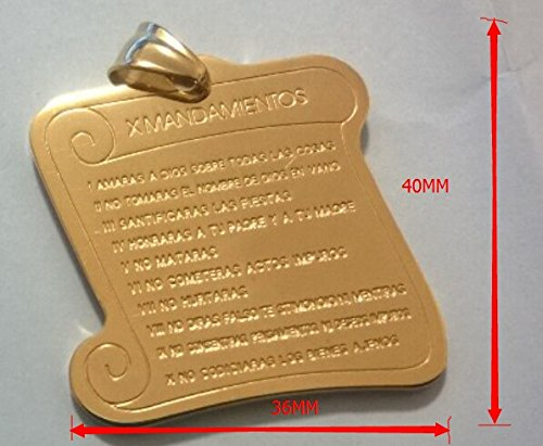X Mandamientos - Medalla - Gold Plated