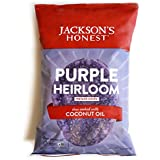 Jackson's Honest Potato Chips, Purple Heirloom, Cooked in Natural, Healthy, Nutrient Dense Organic Coconut Oil, Non GMO Snacks, As Seen On Shark Tank, 1.2 Ounce, Pack of 36