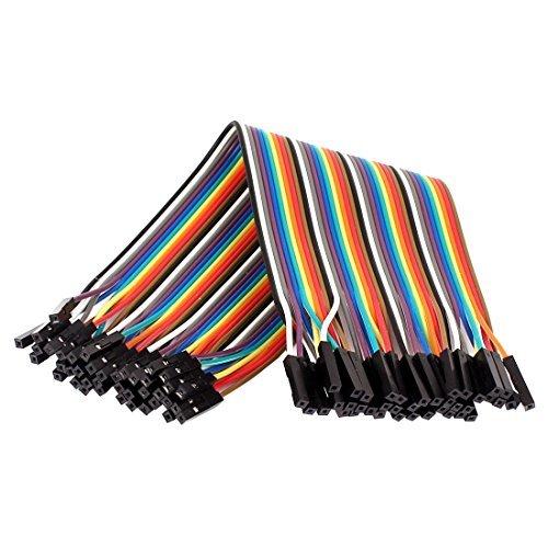 Amazon.com: eDealMax 2,54 mm de paso 40 hilos Pin 40 vías H/F del arco iris de la Cinta Cable de Puente 20cm: Electronics