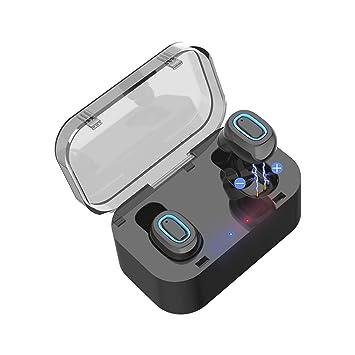LQUYY Auriculares Inalámbricos Q11 Mini Auricular Bluetooth con Bandeja De Carga Ambos Oídos Deportes Auriculares Inalámbricos