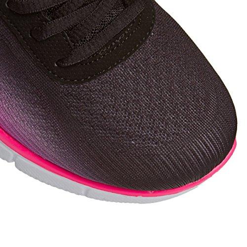 hot Skechers Pink Perfecto Par Zapat Black Nuevo Bajo Deportivo 0T4wZrqT
