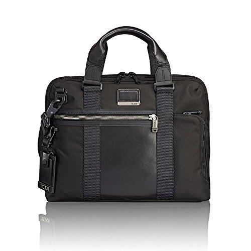 Tumi Men's Alpha Bravo Charleston Compact Brief Briefcase, Black, One Size