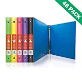 Binders, Bazic Poly 3-ring Binder 1 Inch For School Office - 48 Units