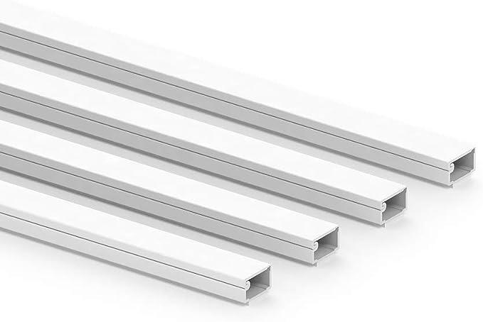Habengut Clip Kabelkanal Mit Schaumklebeband 7x12 Mm Aus Pvc Farbe Weiß Länge 4 M 4 X 1 M Länge Baumarkt