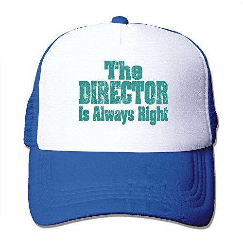 Fashion The Director Is Always Right Baseball Cap Unisex RoyalBlue