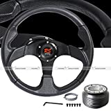 honda crx black - 1984 - 1987 Honda CRX / Civic 350mm Jet Black Steering Wheel with Hub Adaptor