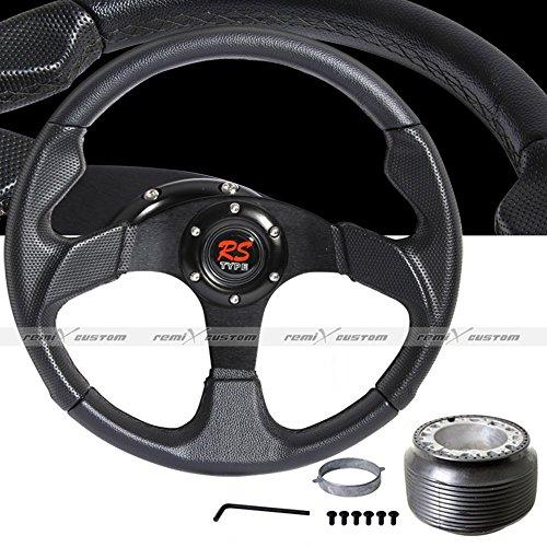 1974 - 1988 Volkswagen VW Beetle 350mm Jet Black Steering Wheel with Hub Adaptor -
