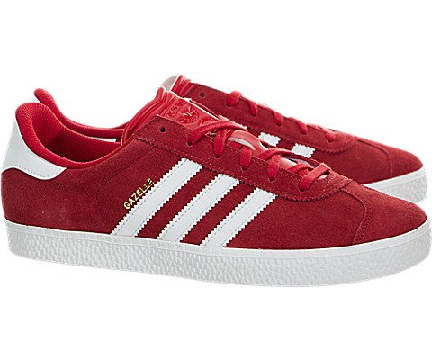 Adidas Youths Gazelle 2.0 Red Suede Trainers 5.5 US by adidas