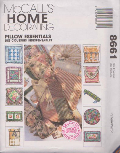 McCall's 8661 Sewing Pattern Home Decorating Pillow Essentials