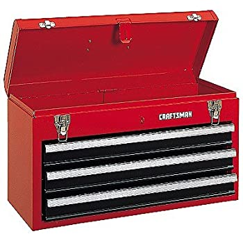 Amazon.com: Craftsman 3-Drawer Metal Portable Chest Toolbox Red ...