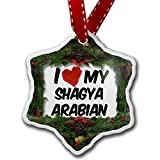 Christmas Ornament I Love my Shagya Arabian, Horse - Neonblond
