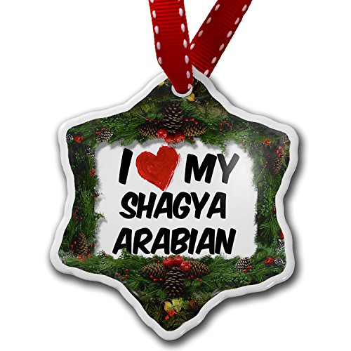 Christmas Ornament I Love my Shagya Arabian, Horse - Neonblond by NEONBLOND