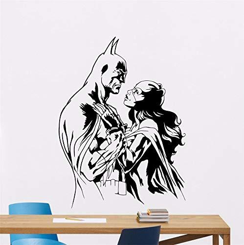 Batman Wall Decal Sticker Batman Catwoman Wall Decal Superhero Vinyl Sticker Kids Room Decor Removable Superhero Design -