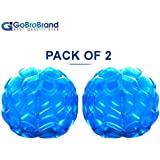 """GoBroBrand Bubble Bumper Balls 2 pack of Inflatable Buddy hamster Bbop Ball set - Used also as Giga Sumo Wearable human zorb soccer Suits for outdoor play. Size: 36"""" For Kids & Adults of all ages"""