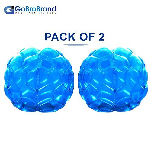 Gobrobrand Bubble Bumper Balls 2 Pack Of Inflatable Buddy Hamster Bbop Ball Set   Used Also As Giga Sumo Wearable Human Zorb Soccer Suits For Outdoor Play  Size  36  For Kids   Adults Of All Ages
