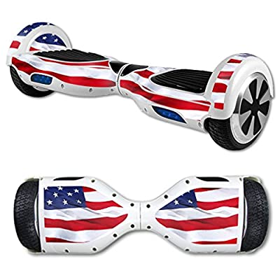 MightySkins Protective Vinyl Skin Decal for Hoverboard Self Balancing Scooter mini hover 2 wheel unicycle wrap cover sticker American Flag